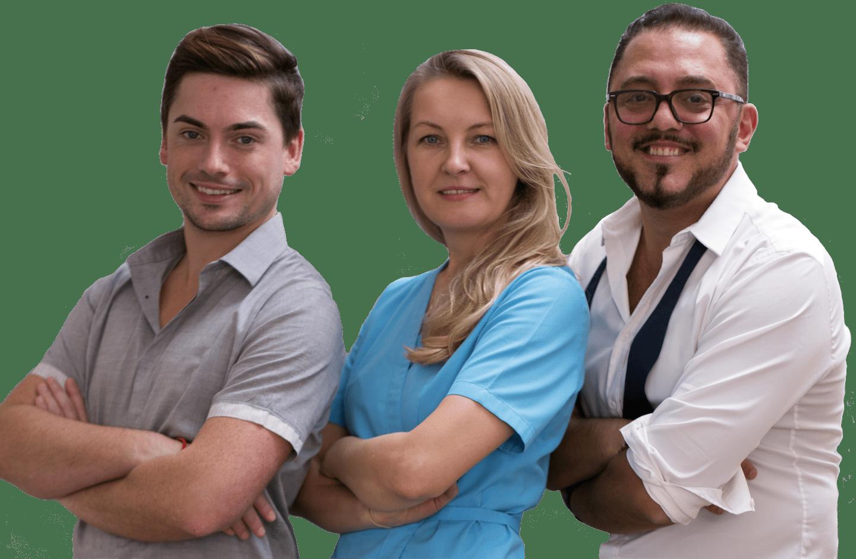 Photo de l'équipe du Cabinet du Dr Houssamo, orthodontiste à Paris 17